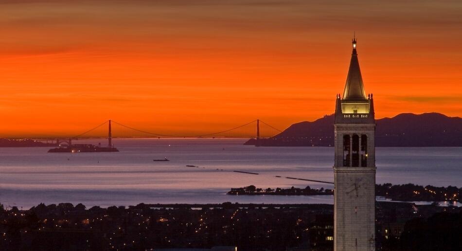 Sunset Over UC Berkeley Campus
