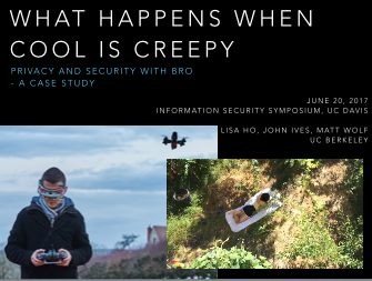 What Happens When Cool is Creepy presentation slides thumbnail -- split screen of teenage boy with drone and teenage girl lounging in backyard